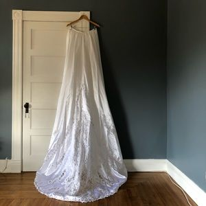 NEW BHLDN Viola Dress AIDAN MATTOX beaded chest maxi full length beaded sz 2-4